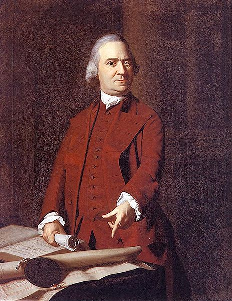 Portrait of Sam Adams.