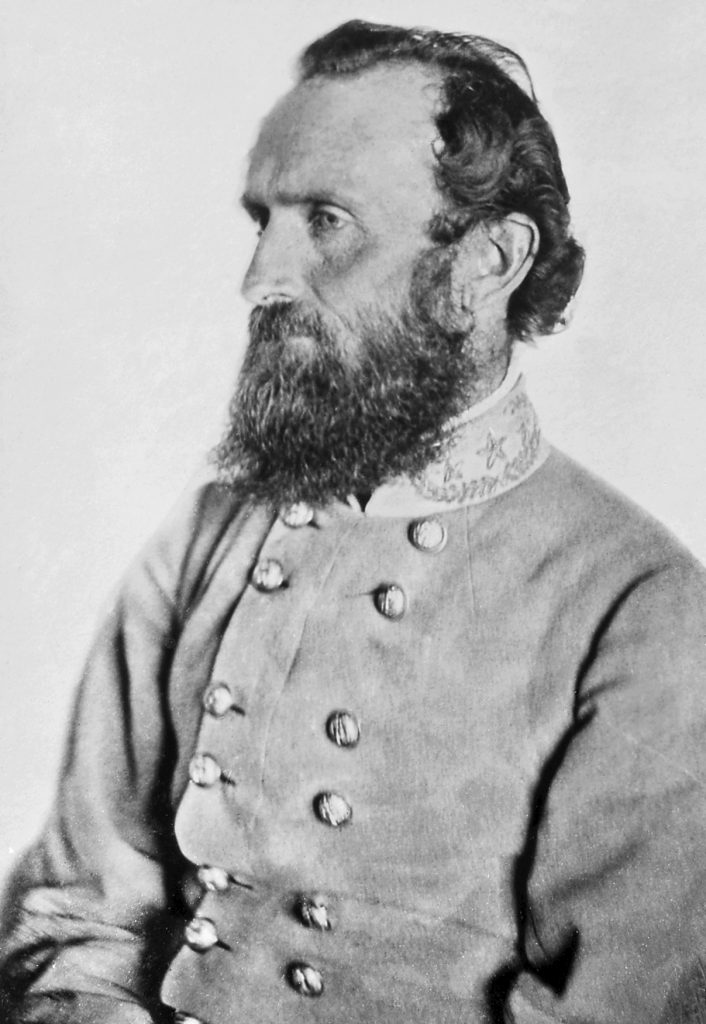 Black and white photograph of Stonewall Jackson.