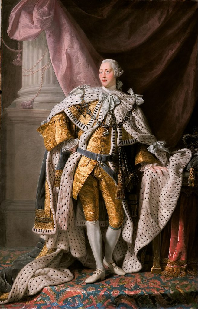 Portrait of King George III by Allan Ramsay.