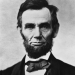 Portrait of Abraham Lincoln.