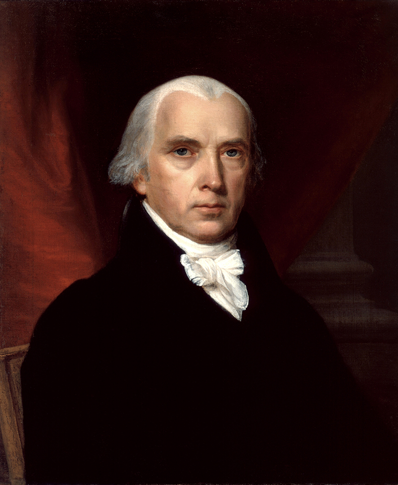 Portrait of James Madison.