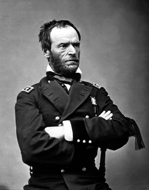 Black and white photo of William T. Sherman.