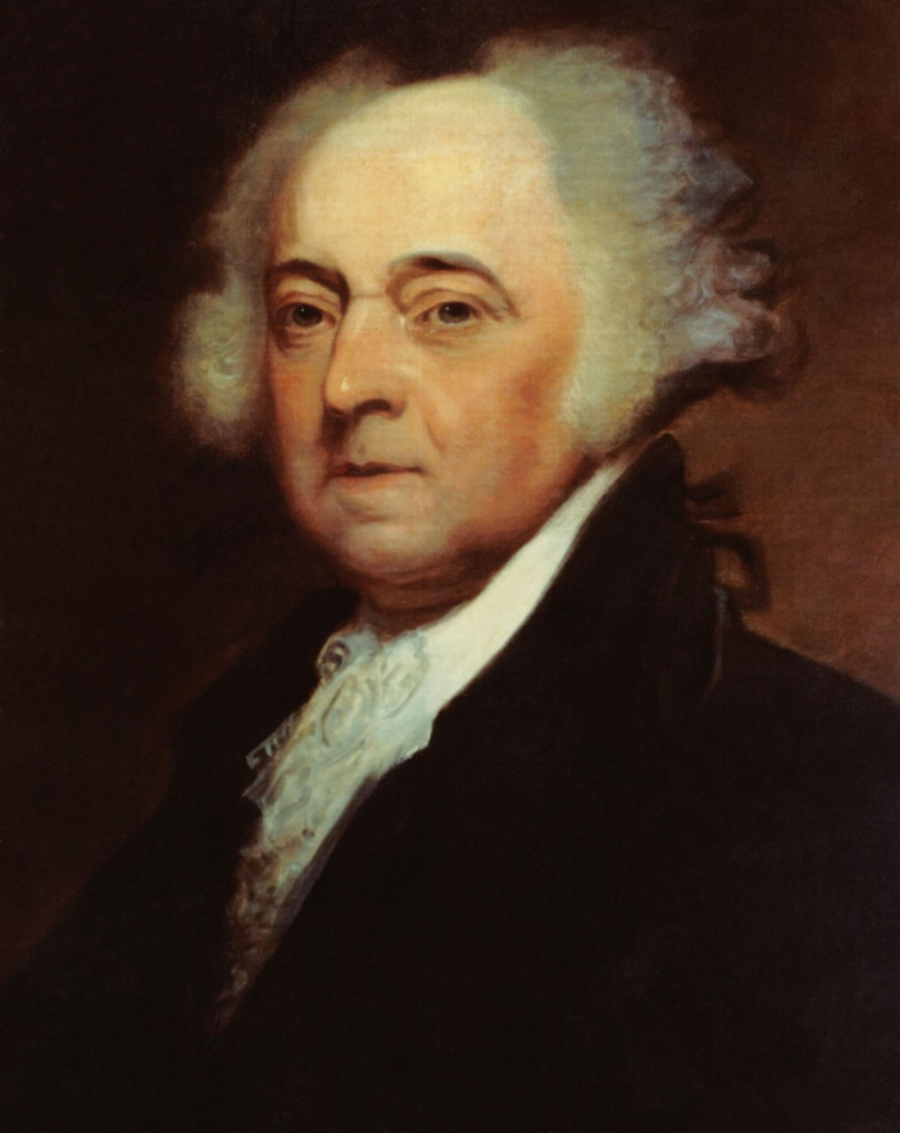 Portrait of John Adams.