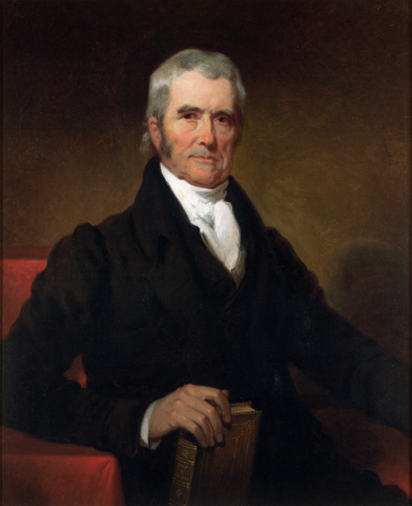 Portrait of John Marshall.