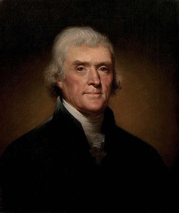 Portrait of Thomas Jefferson.