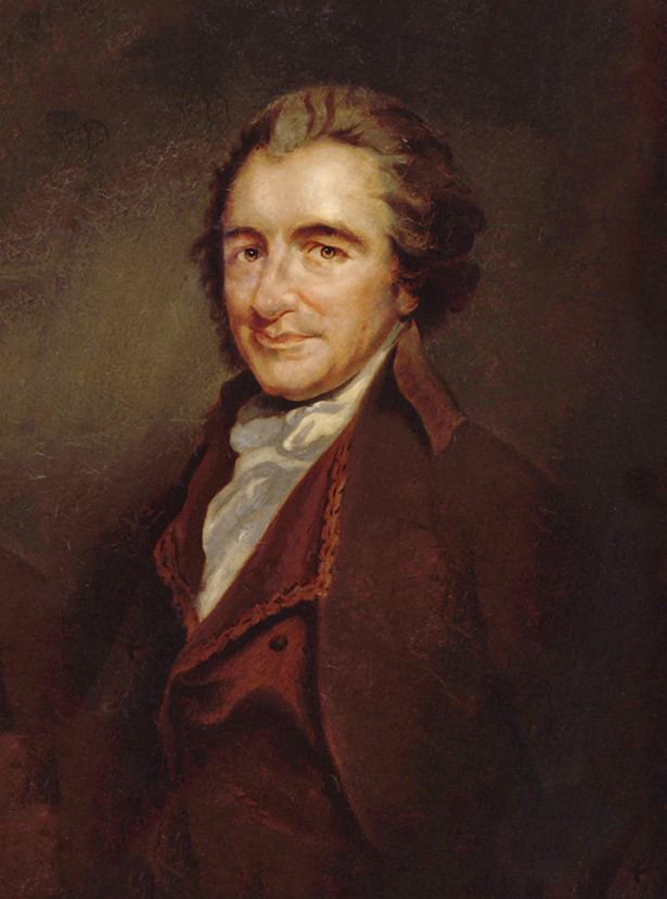 Portrait of Thomas Paine.