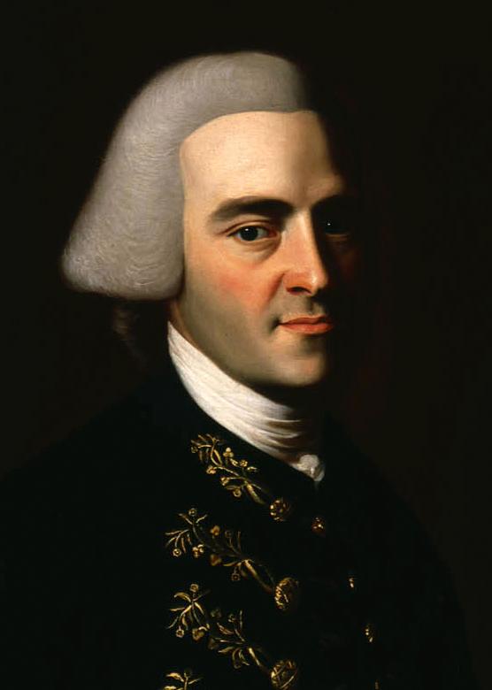 Portrait of John Hancock.