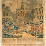 Paul Revere's engraving of the Boston Massacre.