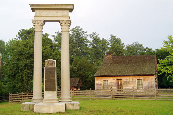 Photography of the Unity Monument at Bennett Place Historical Site.