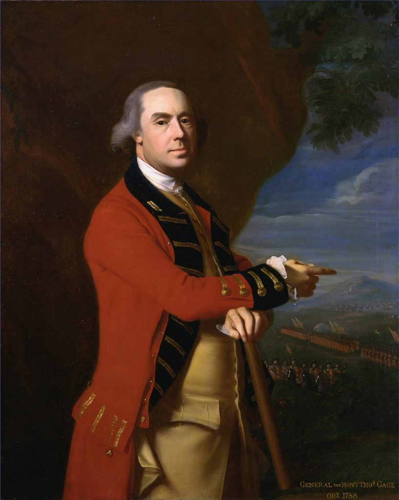 Portrait of Thomas Gage.