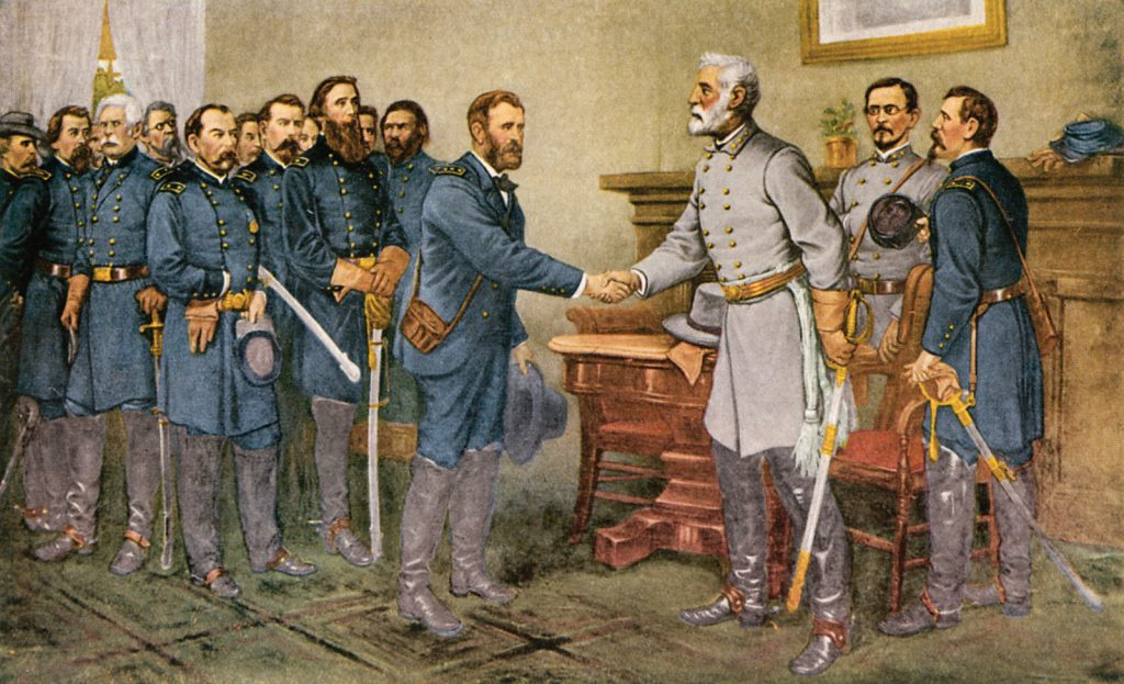 Lee Surrenders at Appomattox Court House by Thomas Nast