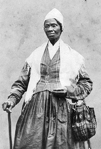 Sojourner Truth, Black and white portrait