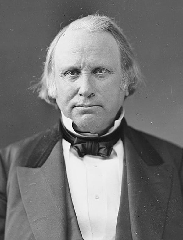 Portrait of Massachusetts Senator Henry Wilson