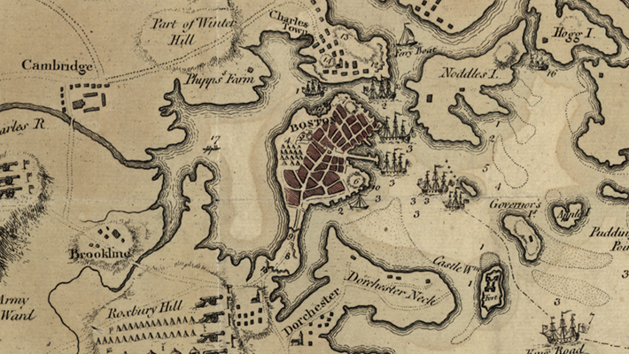Map of Boston, 1775