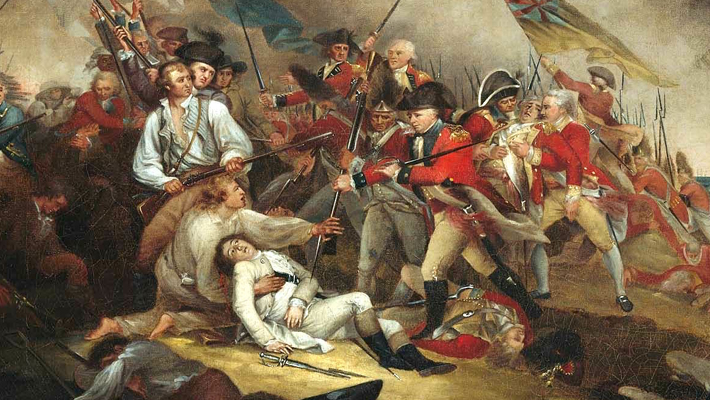 Painting of the death of Joseph Warren by John Trumbull.