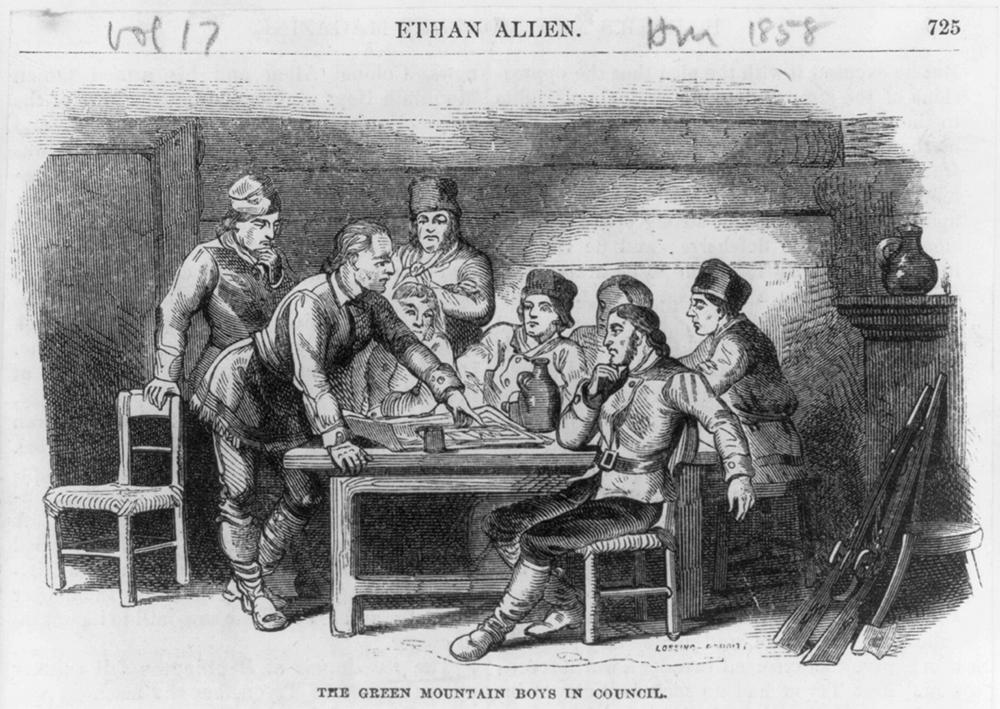 Ethan Allen and the Green Mountain Boys in Council